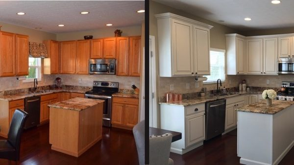 Kitchen Cabinets Columbus Oh kitchen cabinet painting staining in columbus, ohio and central ohio