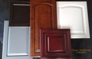 Example of classic or traditional kitchen cabinets refinishing